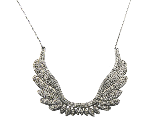 Pave Diamond Wings