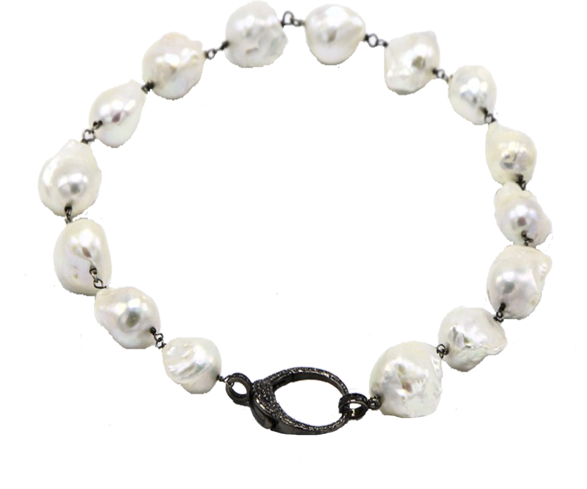 Pearl Choker With Diamond Clasp