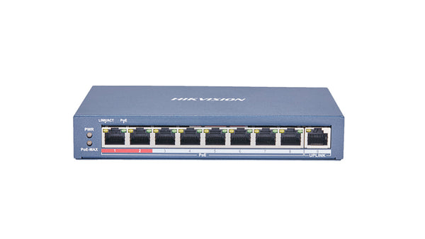 DS-3E0109P-E Hikvision 8 Port Fast Ethernet Unmanaged POE Switch