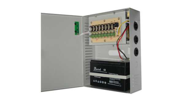MPS-UPS120-8C Mulview 8-Channel 10 Amp 12VDC Power Supply. Switch Mode