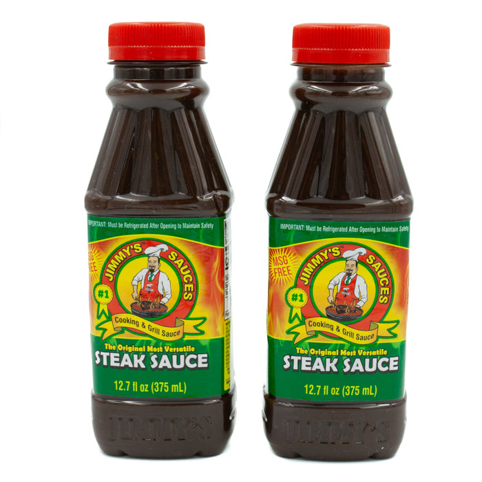 2 x Jimmy's Steak Sauce Original 12.7 fl oz (375ml) - MSG Free
