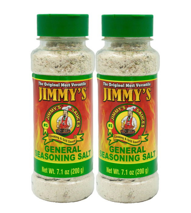 2 x Jimmy's General Seasoning Salt 7.1 oz (200g)
