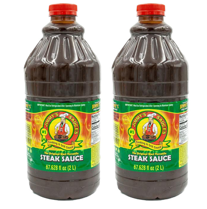 2 x Jimmy's Steak Sauce Original 67.628 fl oz (2L) - MSG Free