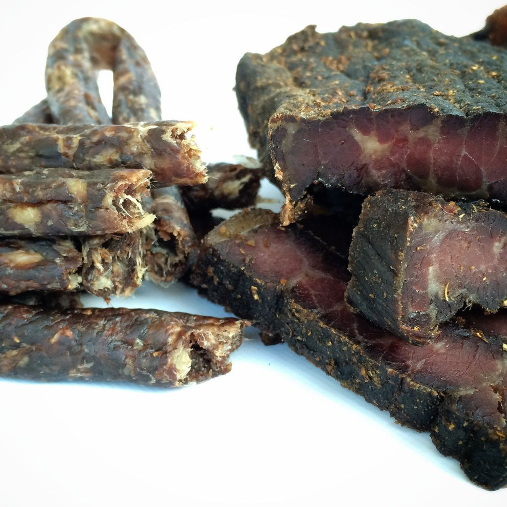 Safari Biltong and Droewors Combo Pack (1lb Sliced Biltong and 1lb droewors)