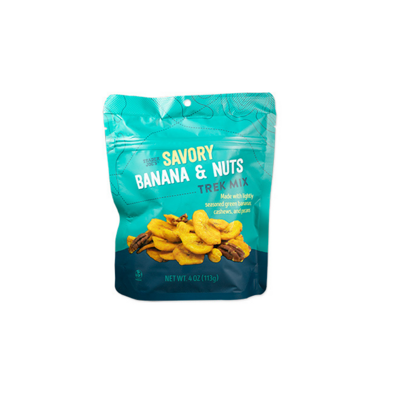 Savory Banana and Nuts Trek Mix