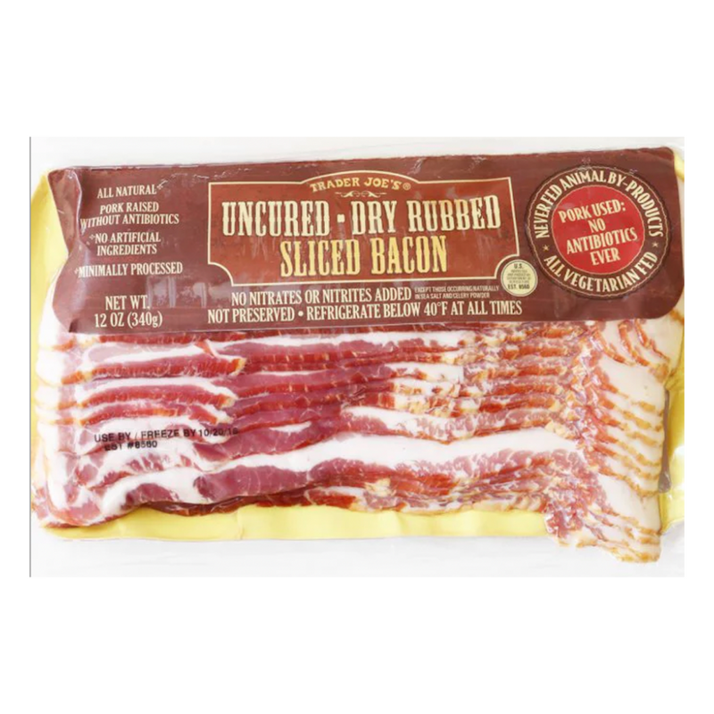 Uncured Dry Rubbed Sliced Bacon