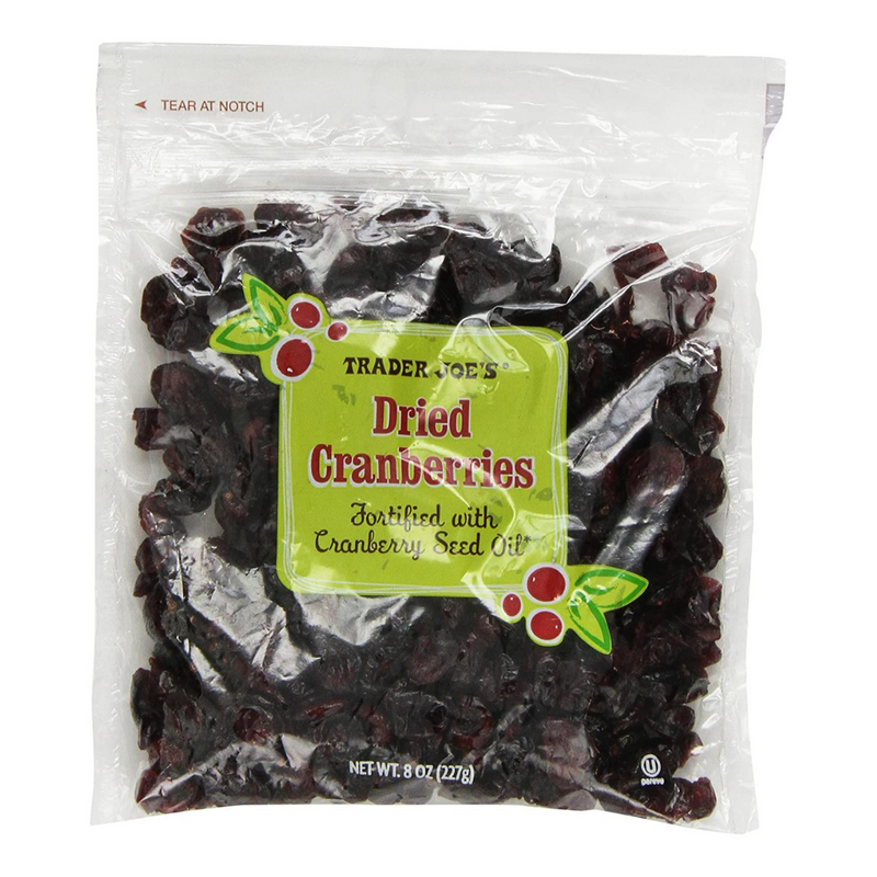 Dried Cranberries Fortified with Cranberry Seed Oil