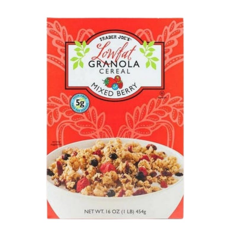 Low Fat Mixed Berry Granola Cereal