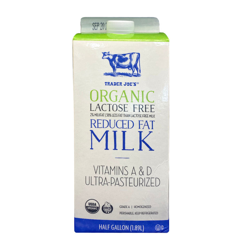 Organic Lactose Free 2% Reduced Fat Milk