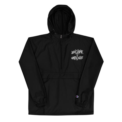 New York Hardcore Crucified Embroidered -  Packable Jacket