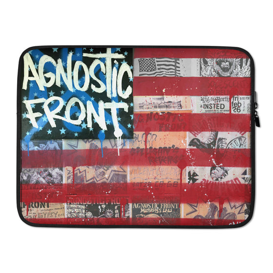 Agnostic Front Flag - Laptop Sleeve