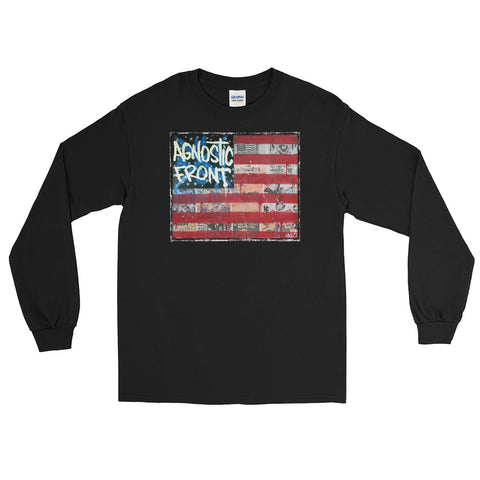 Agnostic Front Flag  - Unisex Long Sleeve Shirt