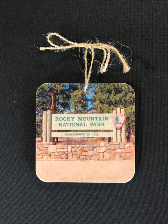 Ornament- RMNP sign