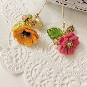 """Orange Poppy""  Wildflower Double flower Bookmark"