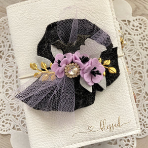 Amethyst Witches Hat Felt Flower Swag