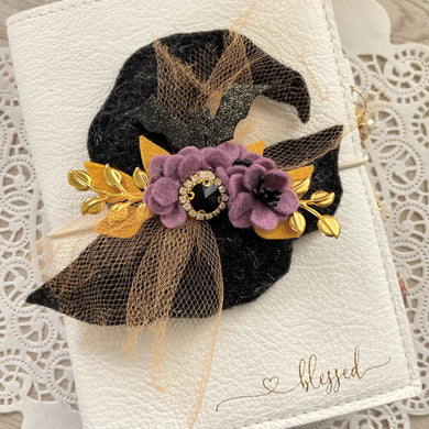 Hilda Witches Hat Felt Flower Swag