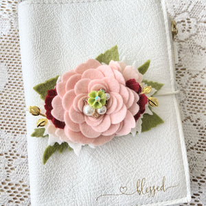 Cheryl's Christmas Rose Take 2 Felt Floral Swag