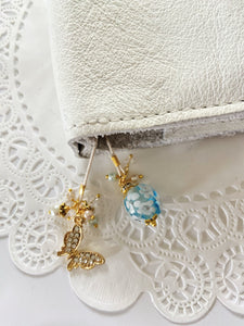 """Blue Bead"" Bloom and Fly Bookmark"