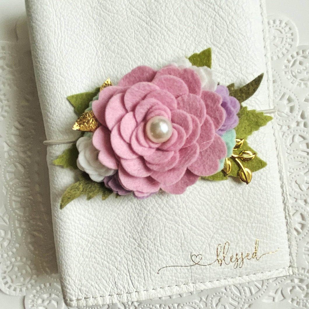 Classic Orchid Rose Felt Floral Swag