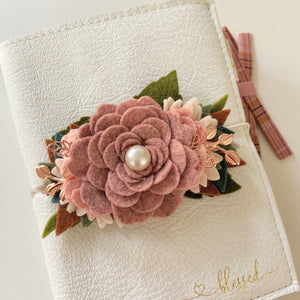 Classic Rosewood Rose Fall Vibes Felt Flower Swag
