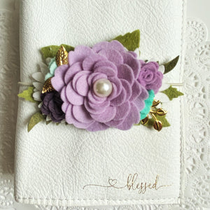 Classic Lilac Rose Felt Floral Swag
