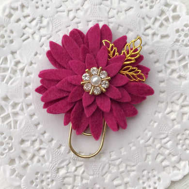 Berry Dahlia Baby Wide Paper Clip