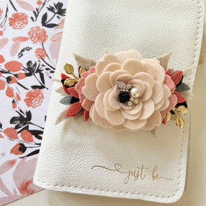Classic Porcelain Rose Fall Vibes Felt Flower Swag