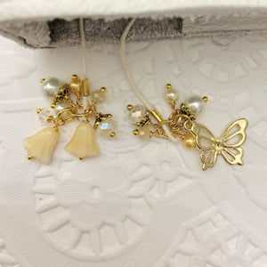 Cream Tulip and Butterfly Bookmark