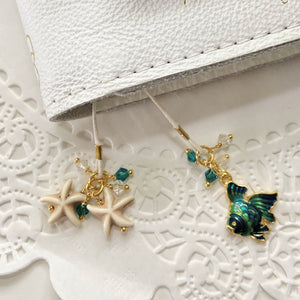 *Caribbean Sea* Turquoise Fish and star fish Bookmark