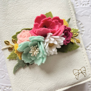 """Wendy"" Wildflower Collection Felt Flower Swag"