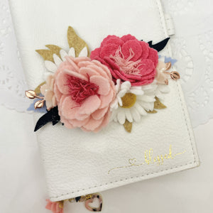 """Blush Blooms 2"" Felt Flower Swag"