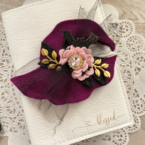 Aurora Witches Hat Felt Flower Swag