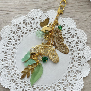 Flutter Long Charm in Greens
