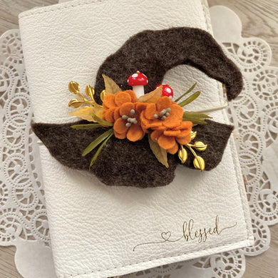 Gaia Forest Witches Hat Felt Flower Swag