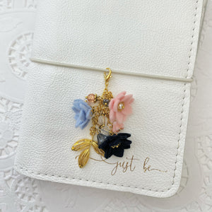 Blush and Navy Field of Flowers Charm
