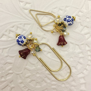 Red Glass Tulip Dangle clip