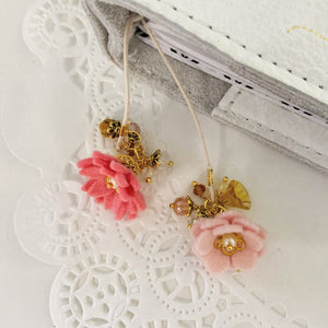 """Heather""  Wildflower Double flower Bookmark"