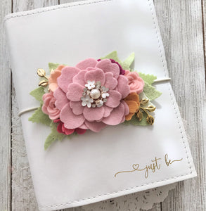 Pink Crystal Bouquet Felt Flower Swag