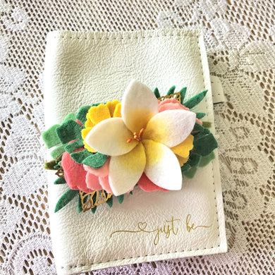 Tropical Vibes- White Plumeria Felt Flower Swag