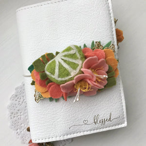 Tropical Vibes-Lime and Pink Hibiscus Felt Flower Swag