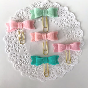 Macaroon Felt Mini Bows Set 1