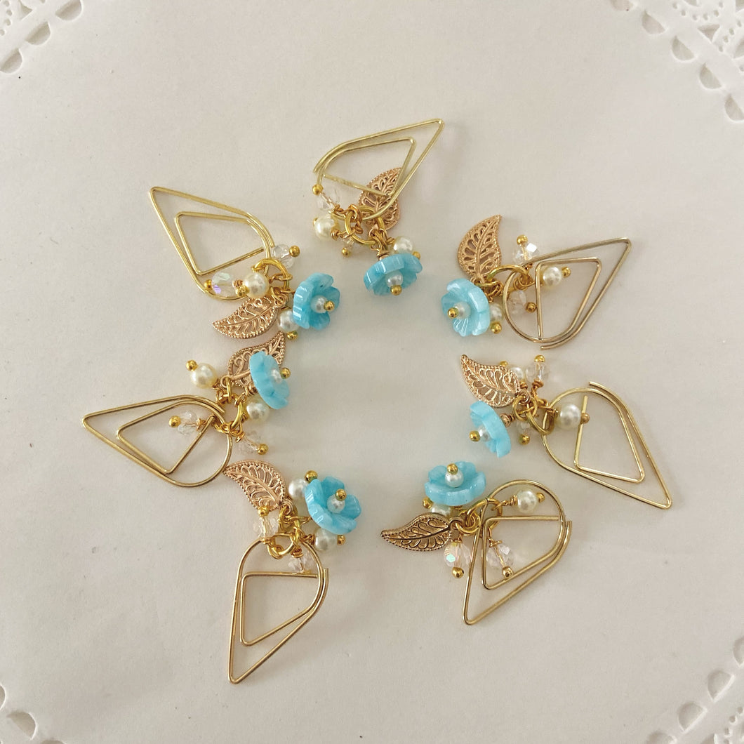 Aqua Flower Drop clip