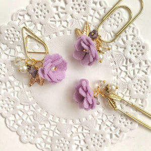 Felt Flower Dangle in Lilac
