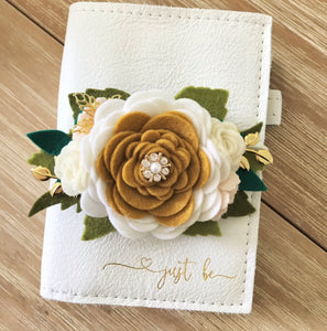 Majestic Felt Floral Swag with gold leaves