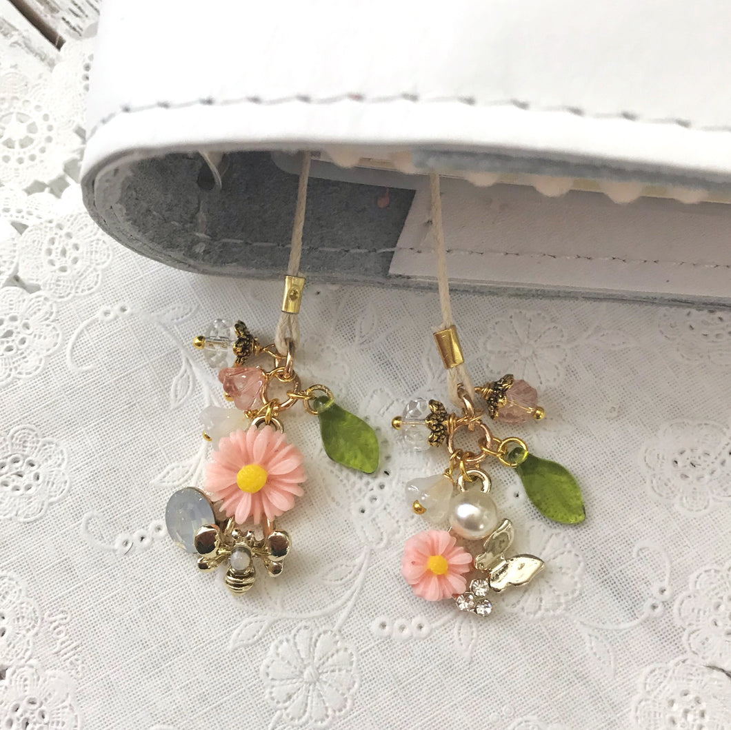 Bloom Charm and Beads Bookmark