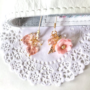 Pretty in Pink Felt Flower and beads Bookmark