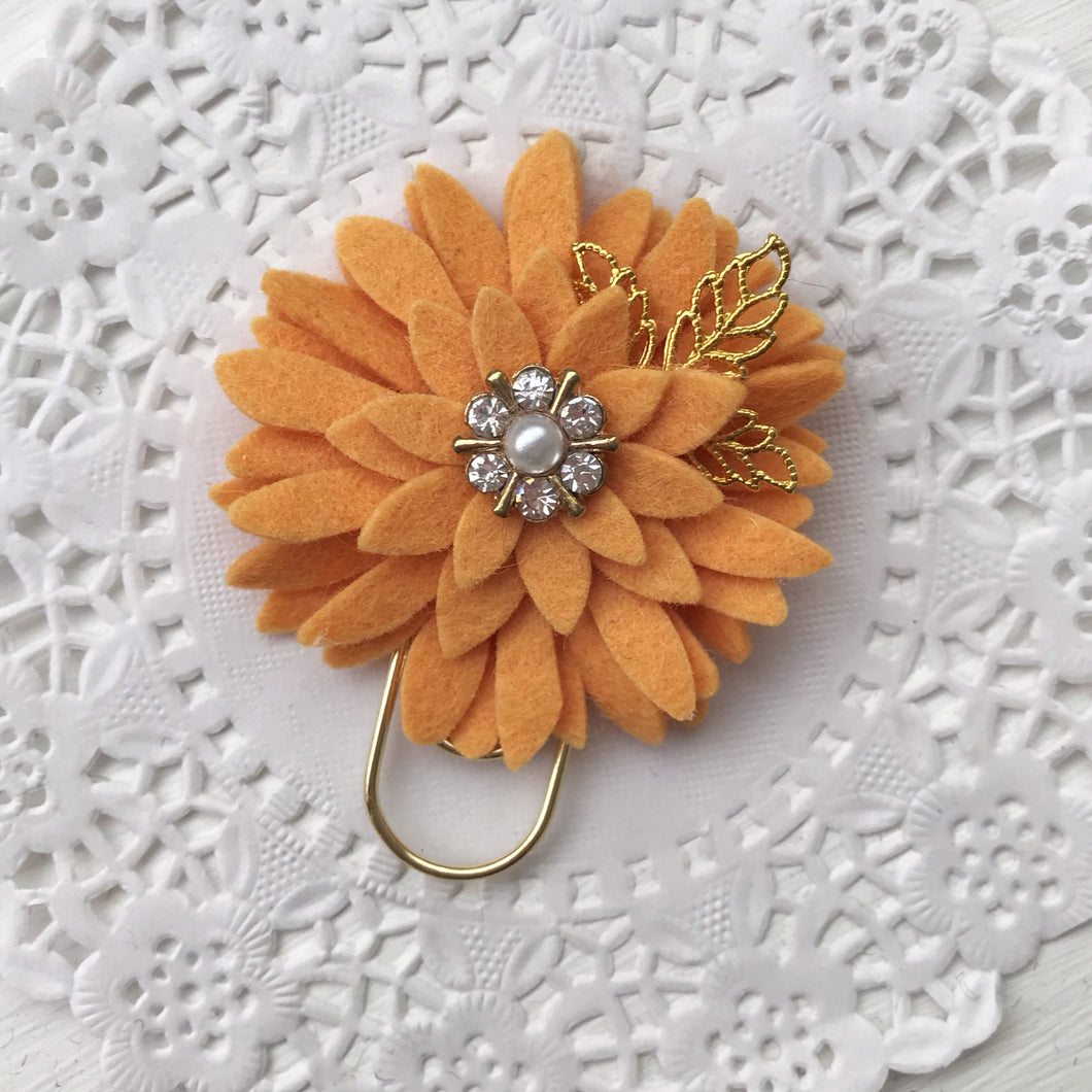 Sunset Dahlia Baby Wide Paper Clip