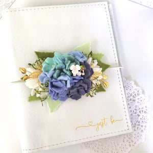 *Preorder* The Blues Hydrangea Felt Flower Swag