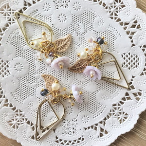 Lilac Flower Drop clip