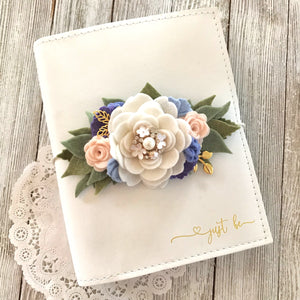 The Mikayla Rose flower cluster Felt Floral Swag